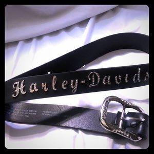 Harley Davidson rhinestone belt